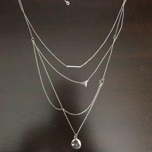 Silver 4 Stranded Necklace